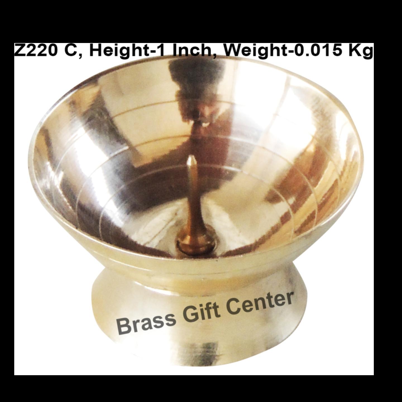 Brass Doopbatti Stand - 1.6*1.6*1 Inch  (Z220 C)