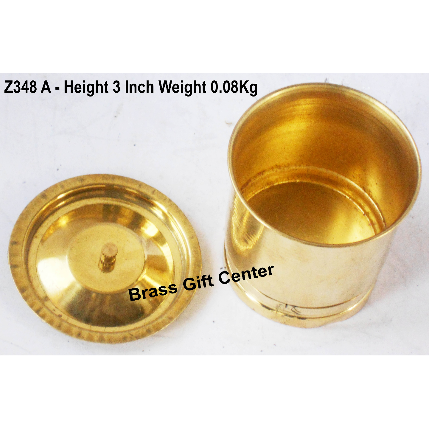 Brass Ration Drum Miniature Toy For Children Playing- 2.22.23 Inch Z348 A
