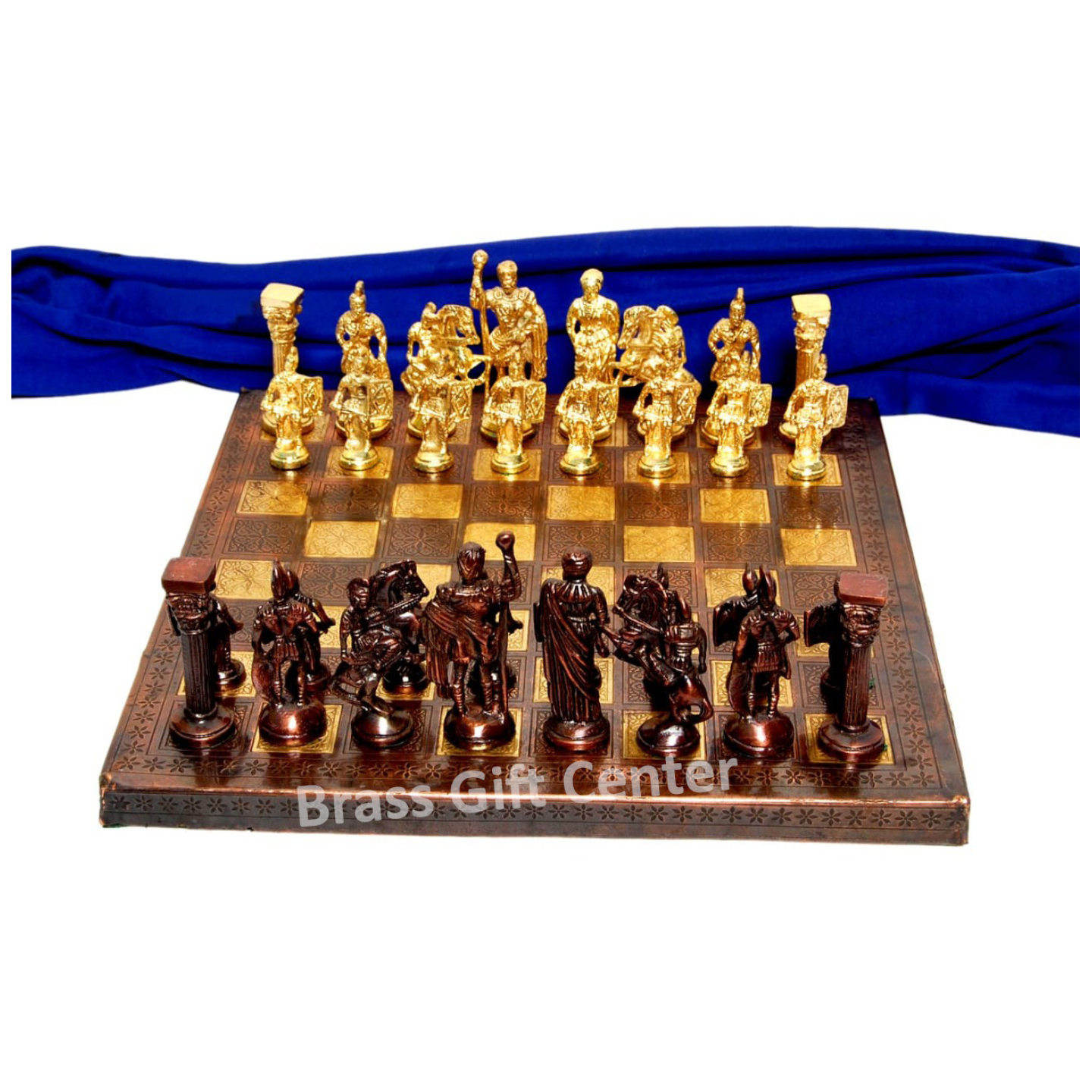 Brass Chess In Brass and Copper Finish - 1212 Inch  BS363 H