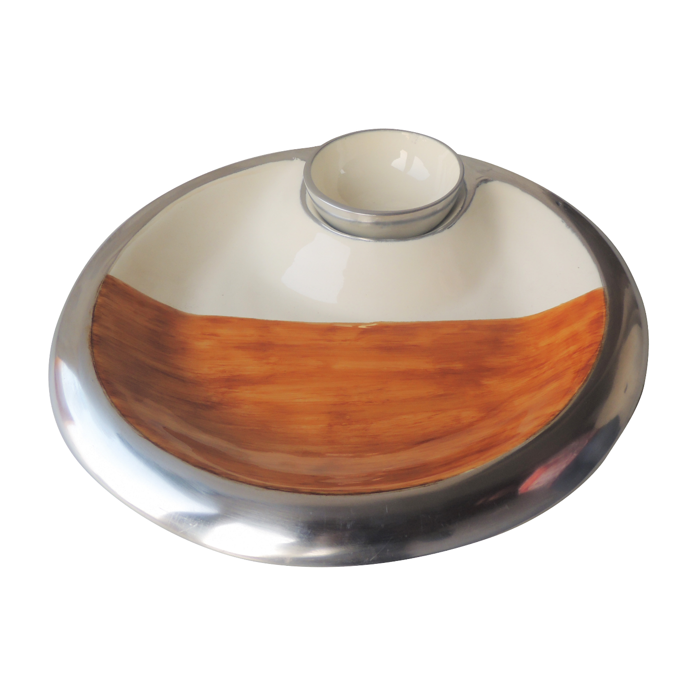 Decorative Platter With Bowl For Diwali Gift 13 Inch - (A3246/13)