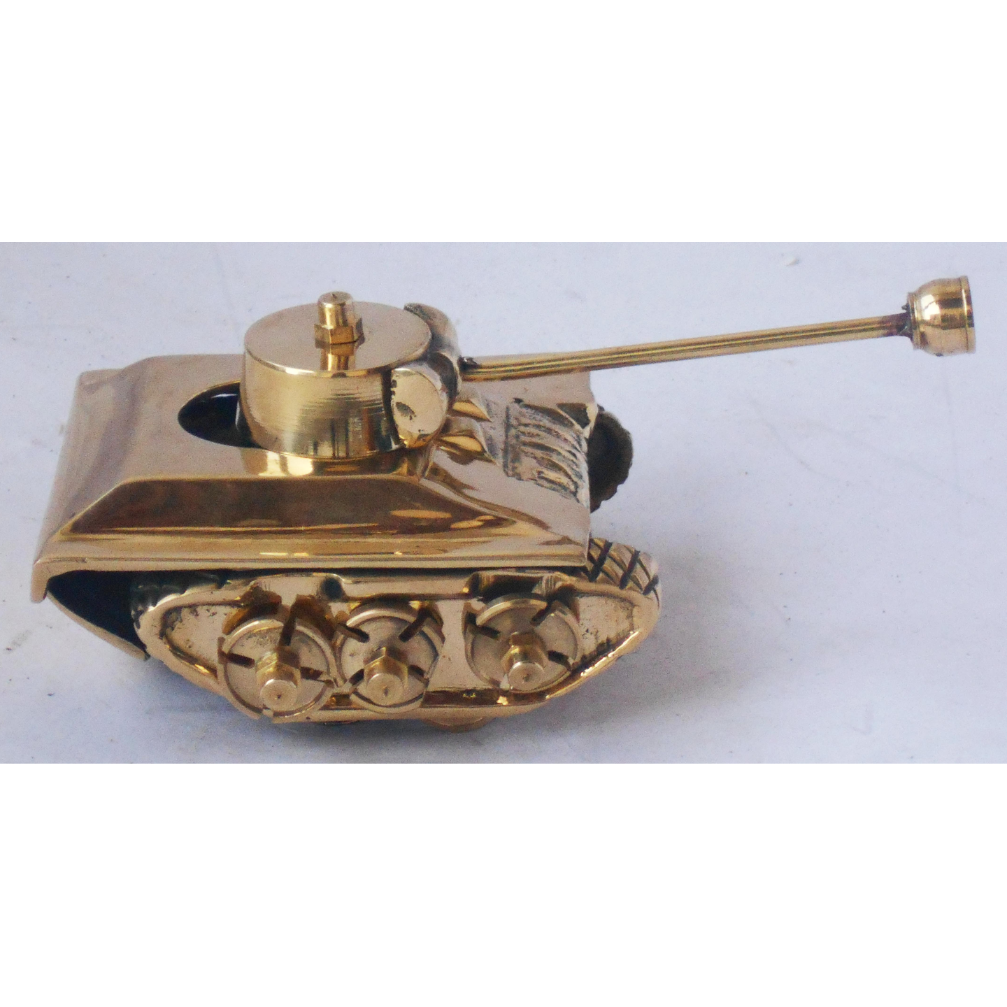 Brass Tank Toy Miniature For Children Playing- 5.5*3.2*2.5 Inch  (Z329 A)