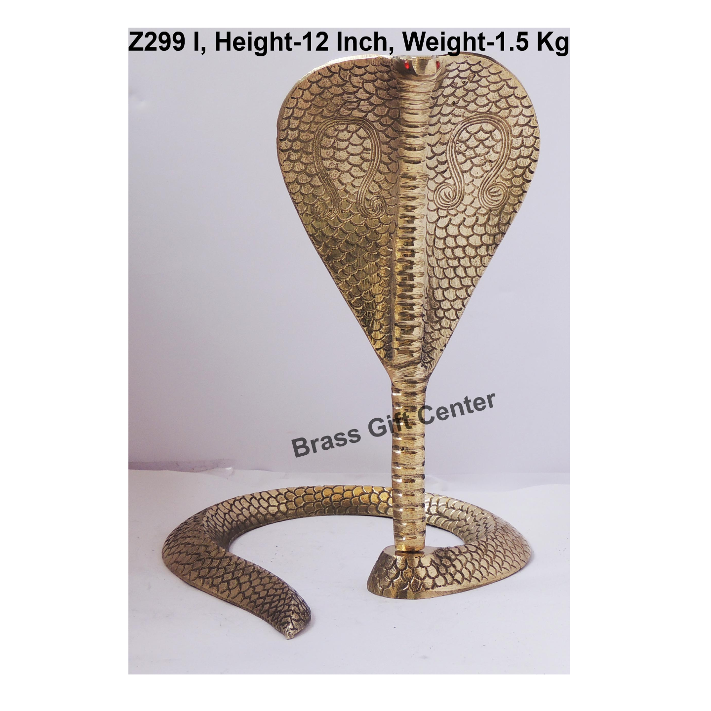 Brass Snake Saap For Shivling - 9.5*10.5*12 Inch  (Z299 I)