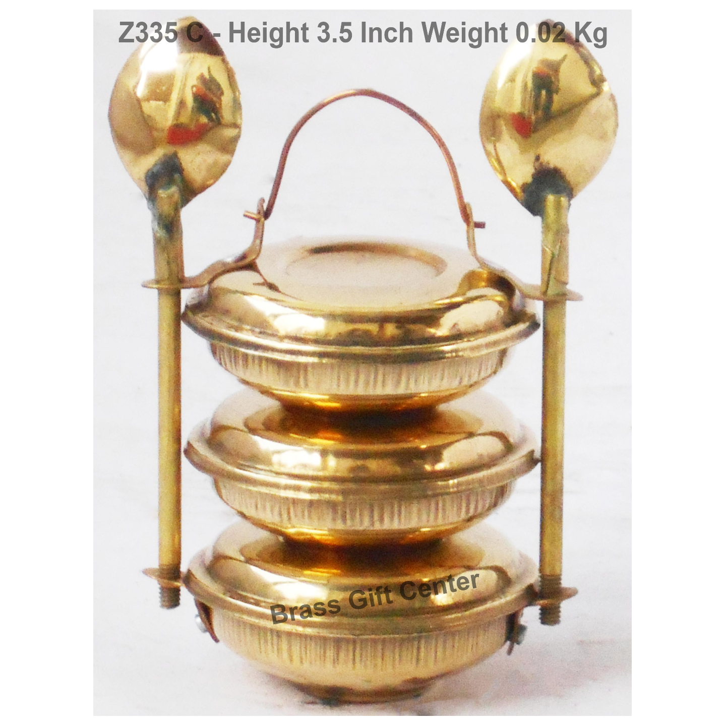 Brass Lunch Box Small Miniature Toy For Children Playing - 2*2*3.5 Inch (Z335 C)