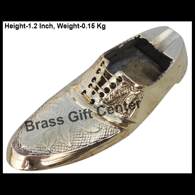 Brass Ash Tray In Shoe Design - 5*1.8*1.2 Inch  (Z154 E)