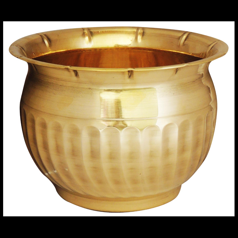 Brass planter Pot Gamala Diameter 12 Inch weight 1 Kg  (F252)