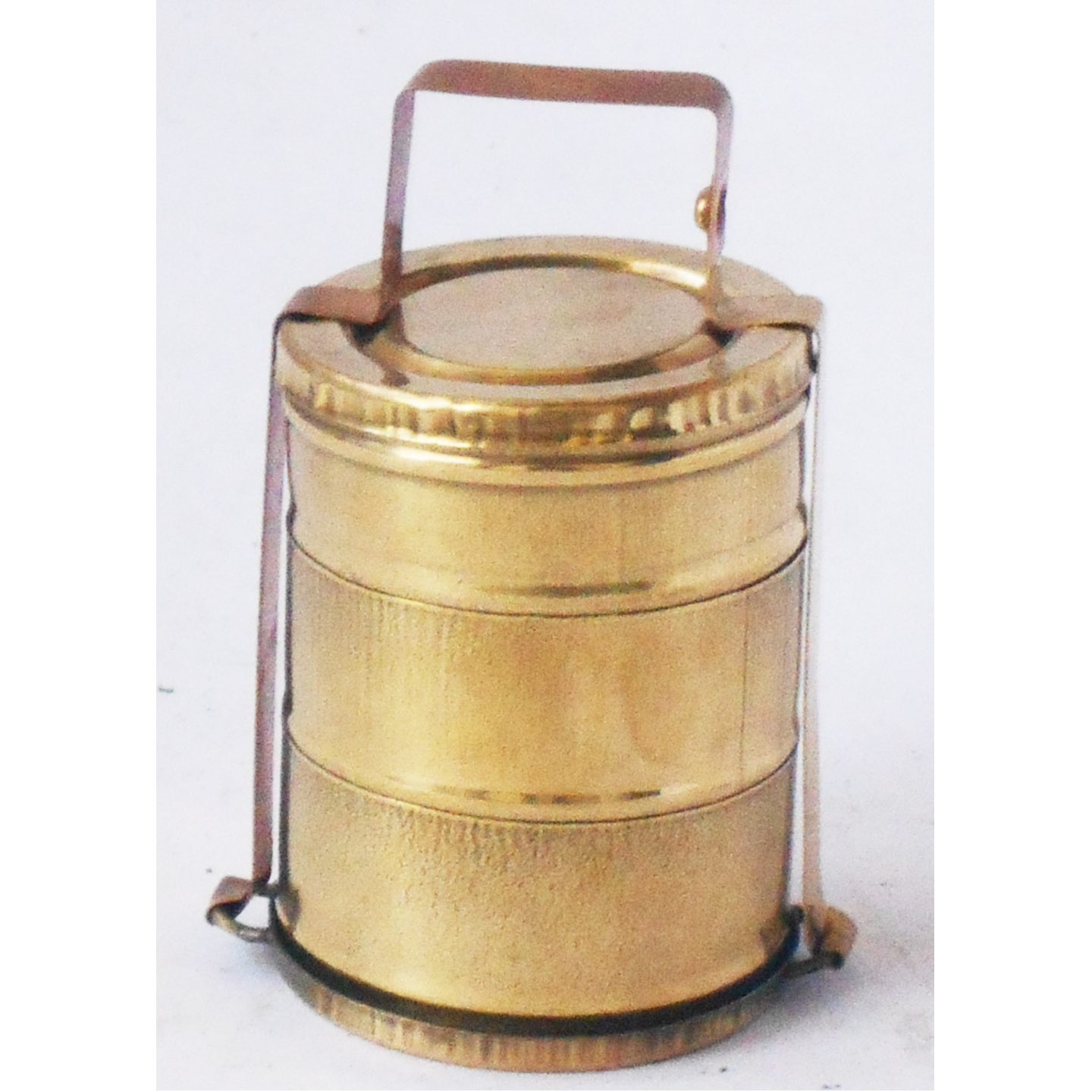 Brass Lunch Box Small Miniature Toy For Children Playing -1.6*1.6*3.5 Inch (Z370 E)
