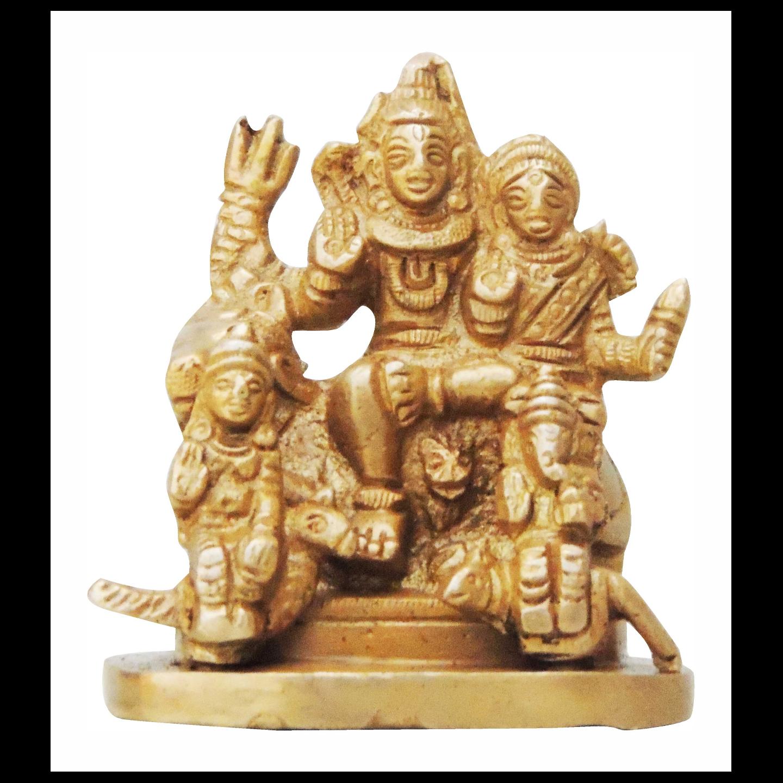 Brass Showpiece Shiv Parivar - 3 Inch (BS346)