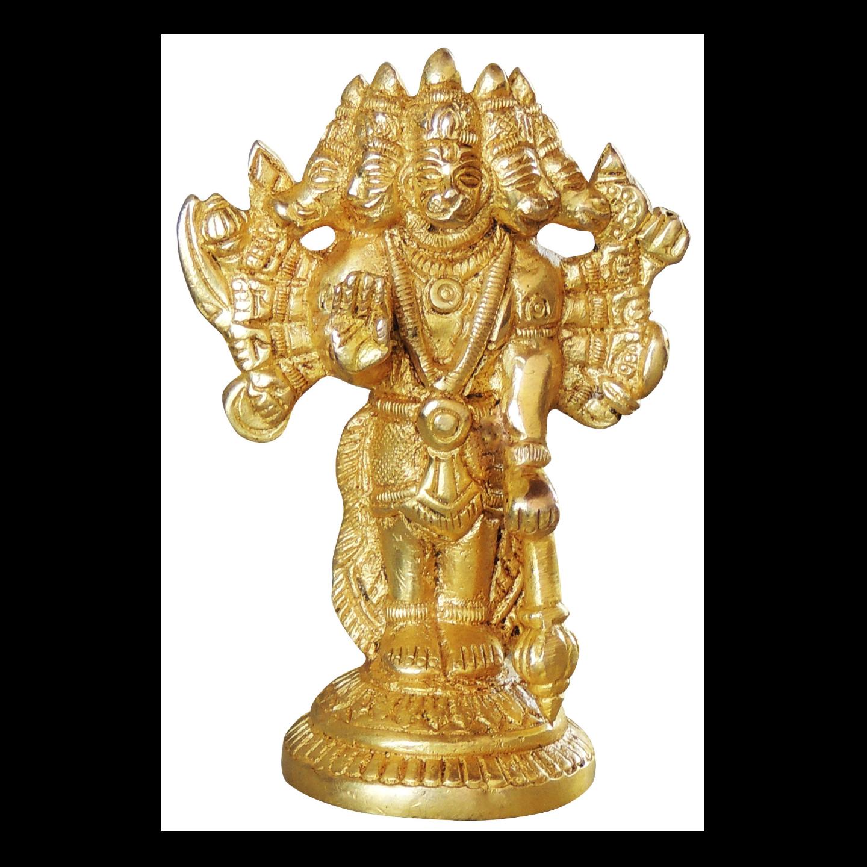 Brass Panchmukhi Hanuman Statue Murti idol 340 gm- 3*1.5*4 inch  (BS1048 E)