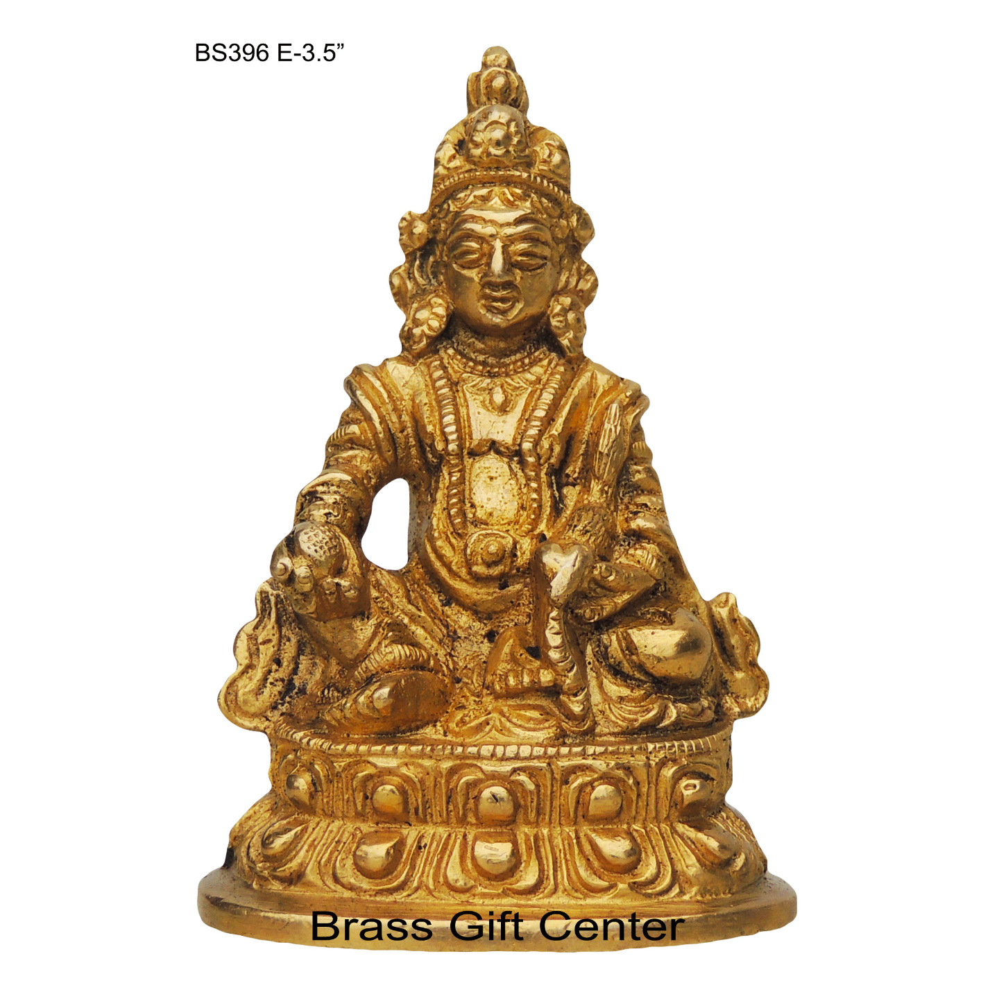 Brass Showpiece Kuber Maharaj Ji Idol With Brass Finish - Height 3.5 (BS396 E)
