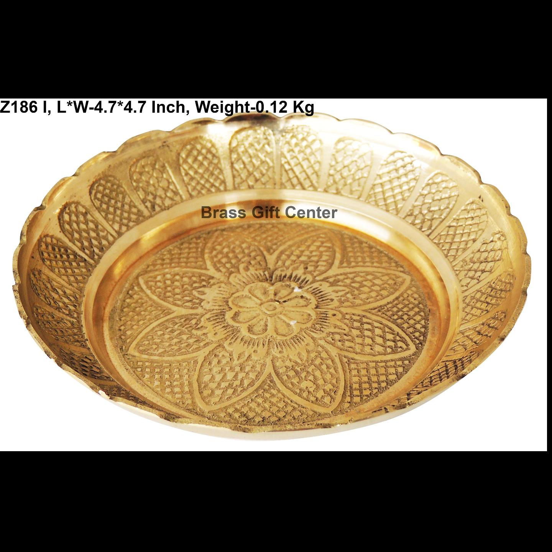 Brass Kachua [Tortoise] Plate No. 5 - 4.7*4.7 Inch  (Z186 I)
