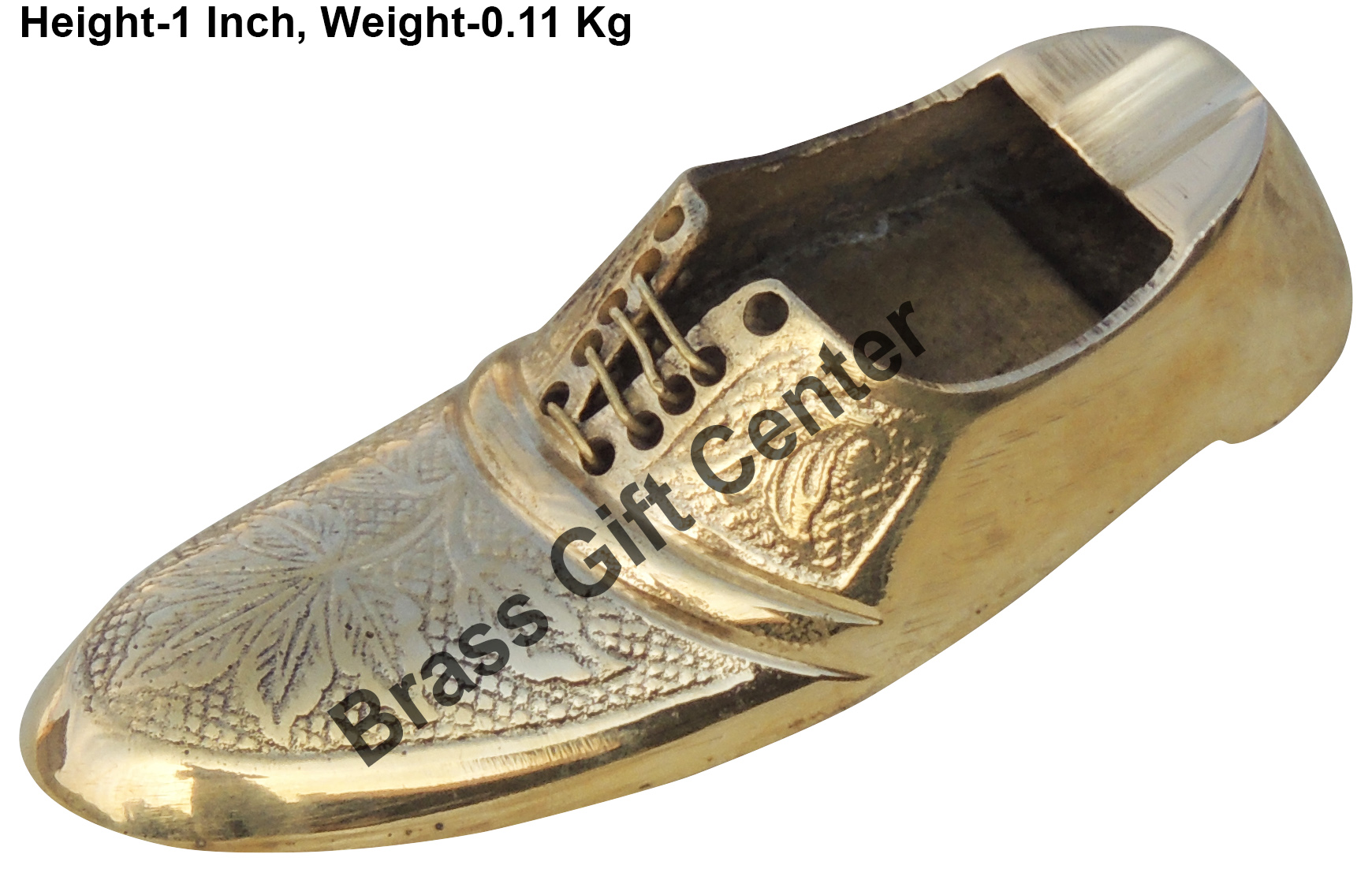 Brass Ash Tray In Shoe Design - 4.41.61 Inch  Z154 D