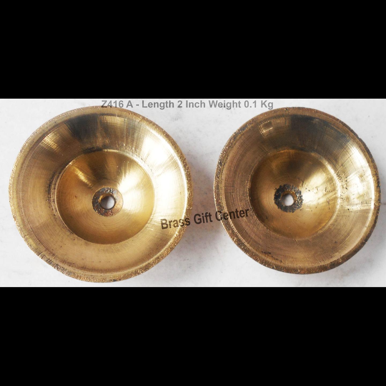 Brass Manjira With Brass Finish Length 2 Inch Z416 A