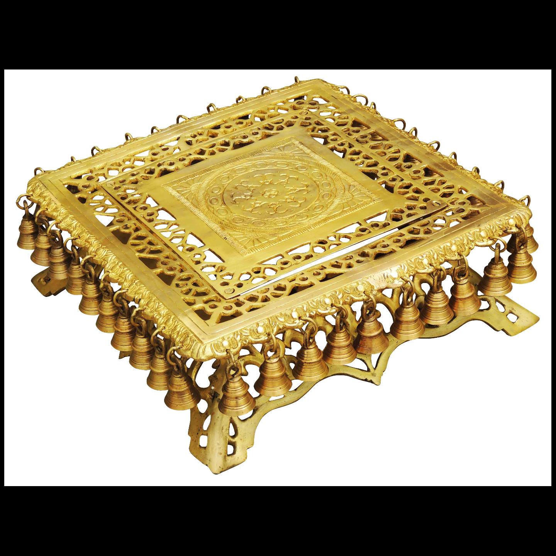 Brass Rectangle Stool -14.5 Inch (BS818 B)
