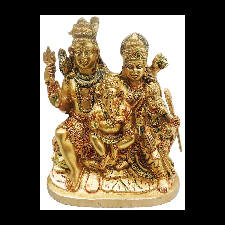 Brass Showpiece Shiv Parivar - 8.5 Inch (BS493 B)