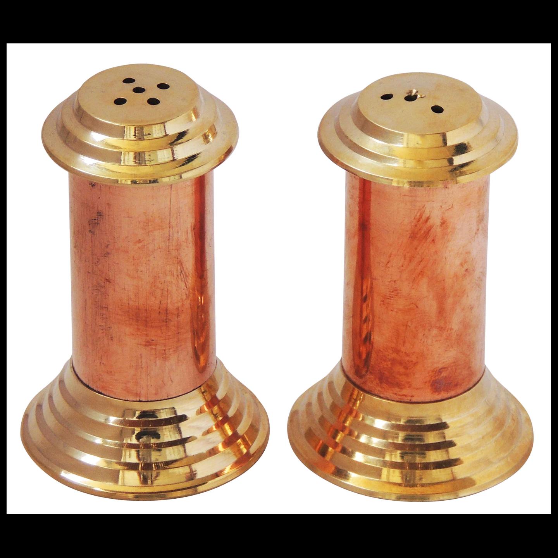 Brass and copper Namak Dani and Mirch Dani  (BC137 A)