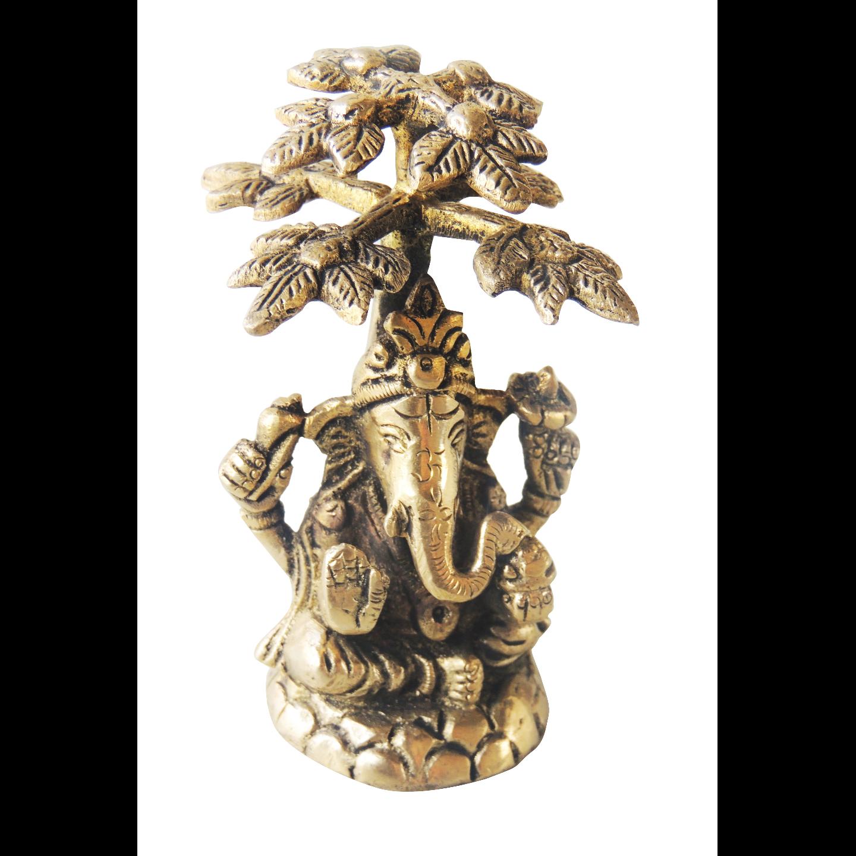 Brass Showpiece Ganesh Ji Statue - 3.7 Inch BS1234 G