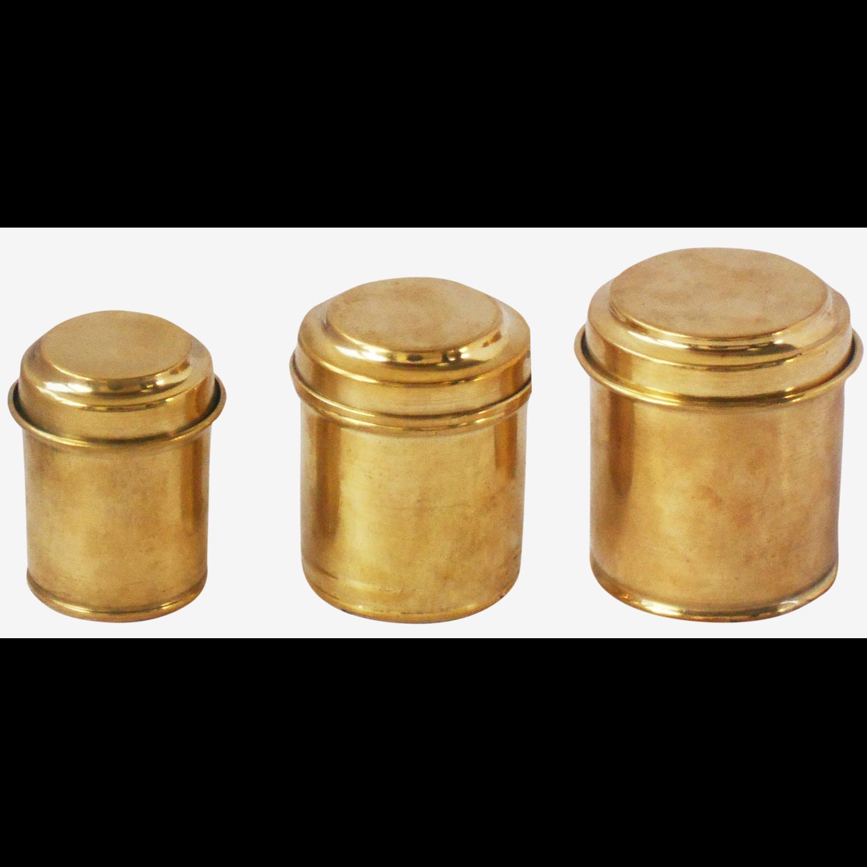 Brass Box Miniature Toy For Children Playing 3 PCs Set (Z358 C)
