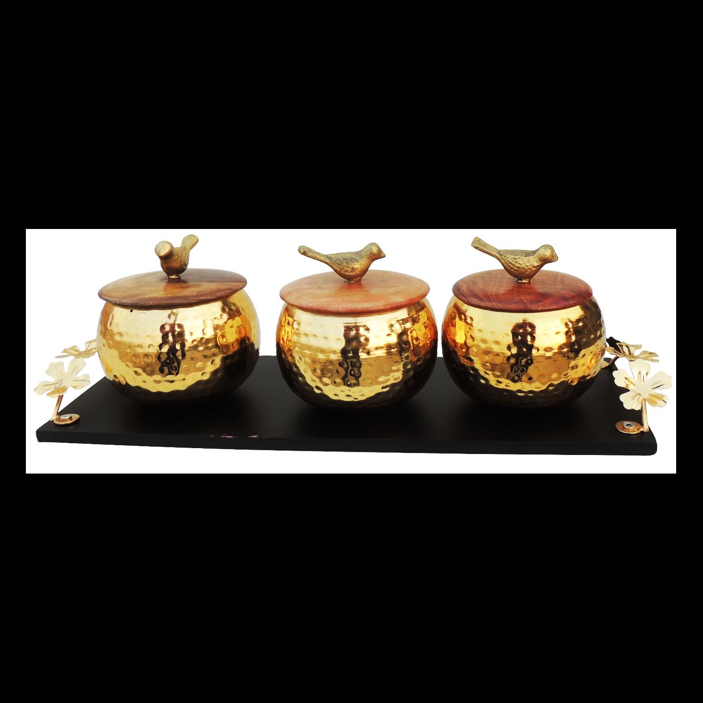 Decorative Bowl Set Diwali Gift Item - 8.6 Inch I135 C