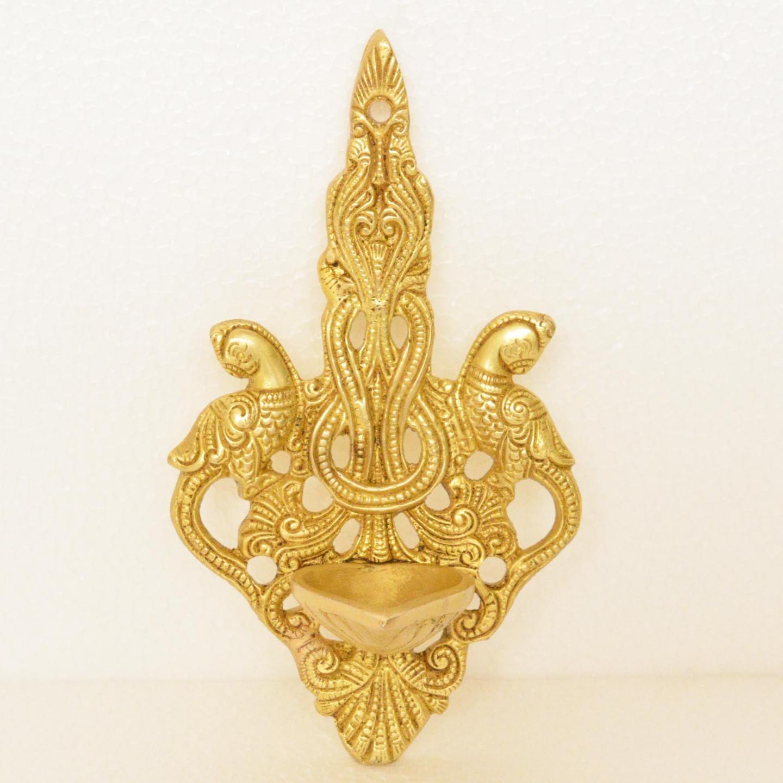 Brass Wall Hanging Deepak 6.8 Inch (BS1198 A)