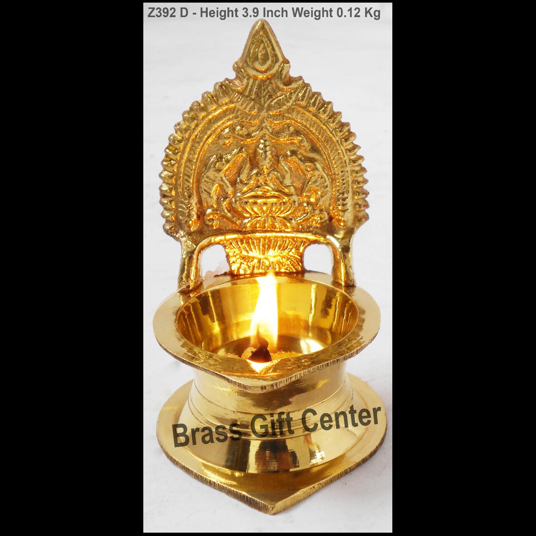 Brass Kamakshi Velakku Deepak - 2.2*2.2*3.9 inch  (Z392 D)