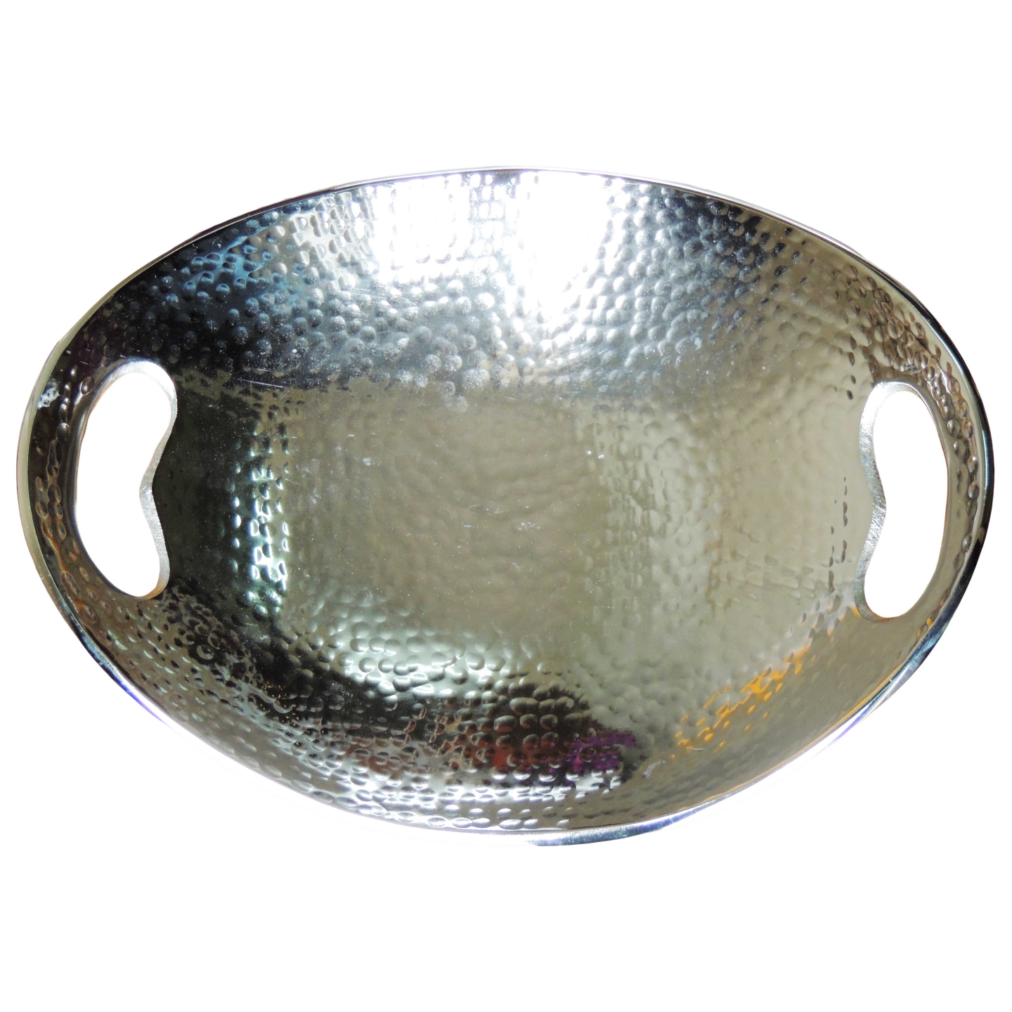 Aluminium Tray Platter With Nickel plated Hammered - (A3164N/9)