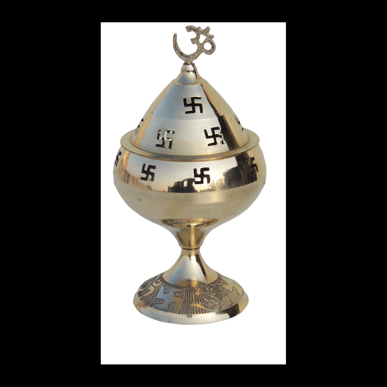 Brass Om Pakija Deepak - 5.3 Inch Z164 H