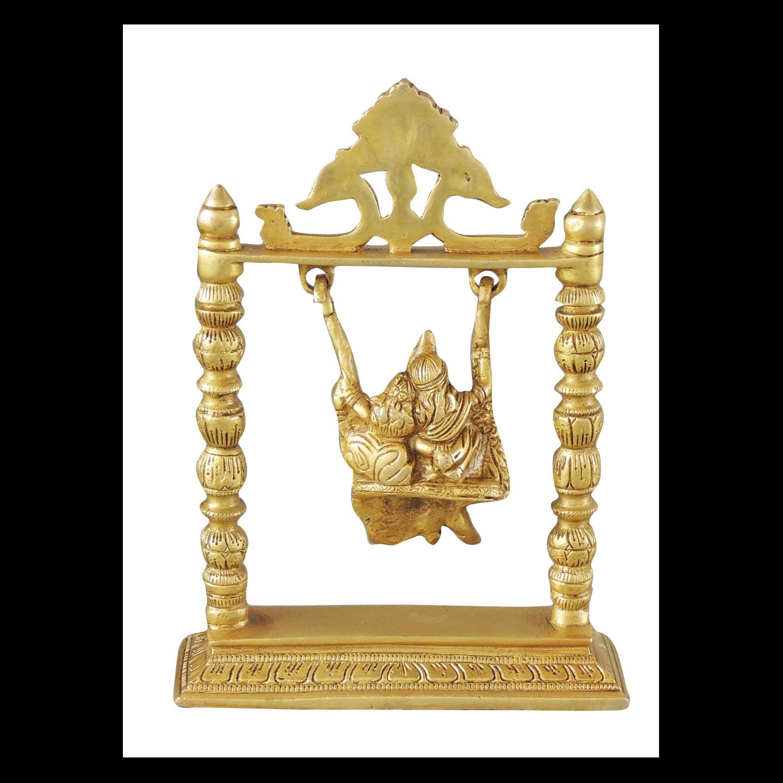 Brass Radha Krishna Jhula 2 kg - 7.4x2.2x10 Inch  (BS1067 A)