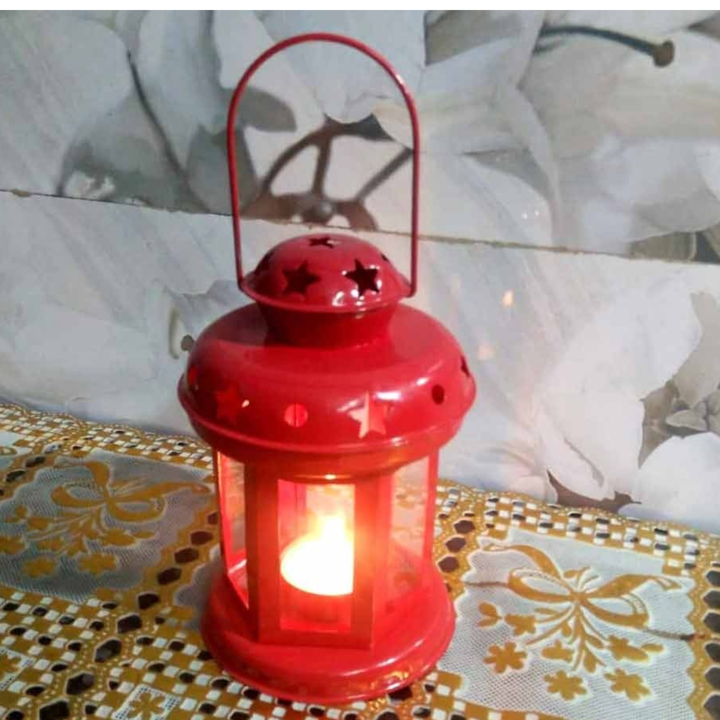 Iron Tea Light Holder Height 6.5 Inch (MR046)