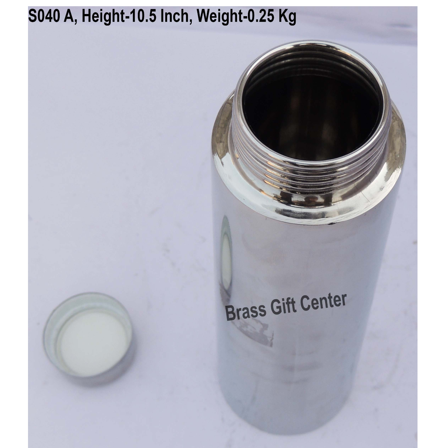 Steel Water Bottle, Capacity 820 ML, Height 10.5 Inch (S040 A)