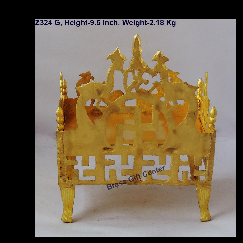 Brass Singhansan For God - 96.59.5 inch  Z324 G