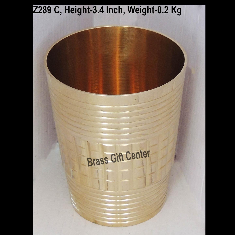 Brass Glass 270 ml -  2.5*2.5*3.4 Inch  (Z289 C)