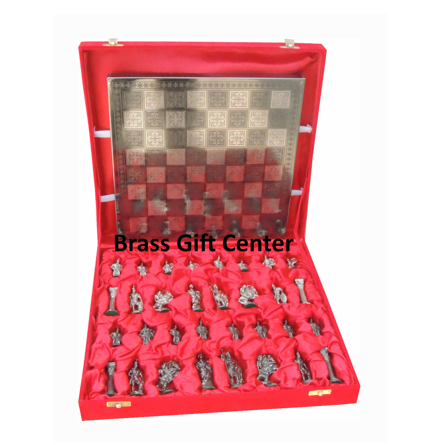 Brass Chess In Silver and Copper Finish - 1212 Inch  BS363 F