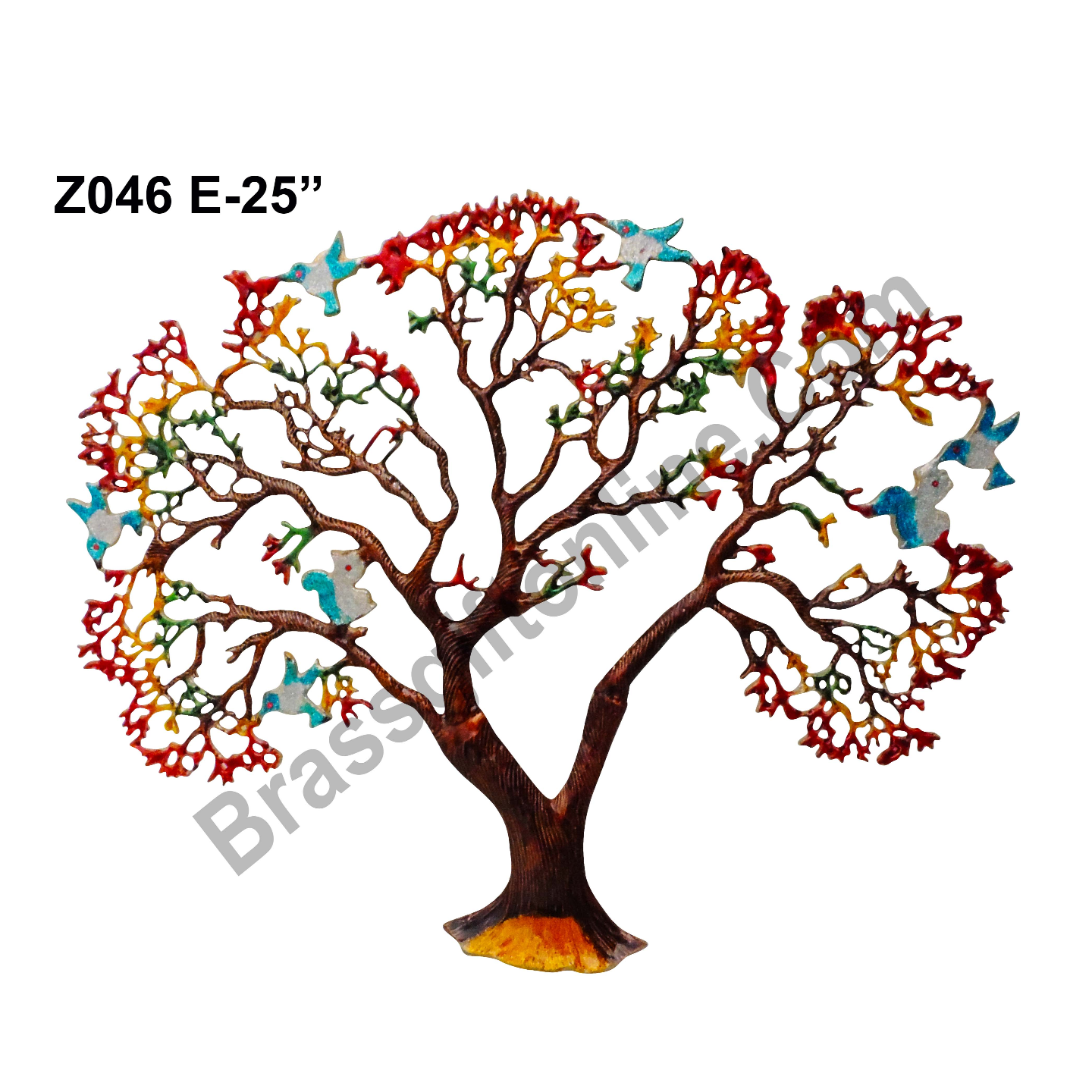 Wall Decorative Aluminium Tree - 31 Inch  Z046 E