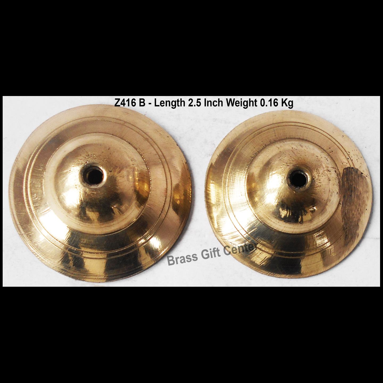 Brass Manjira With Brass Finish Length 2.5 Inch (Z416 B)
