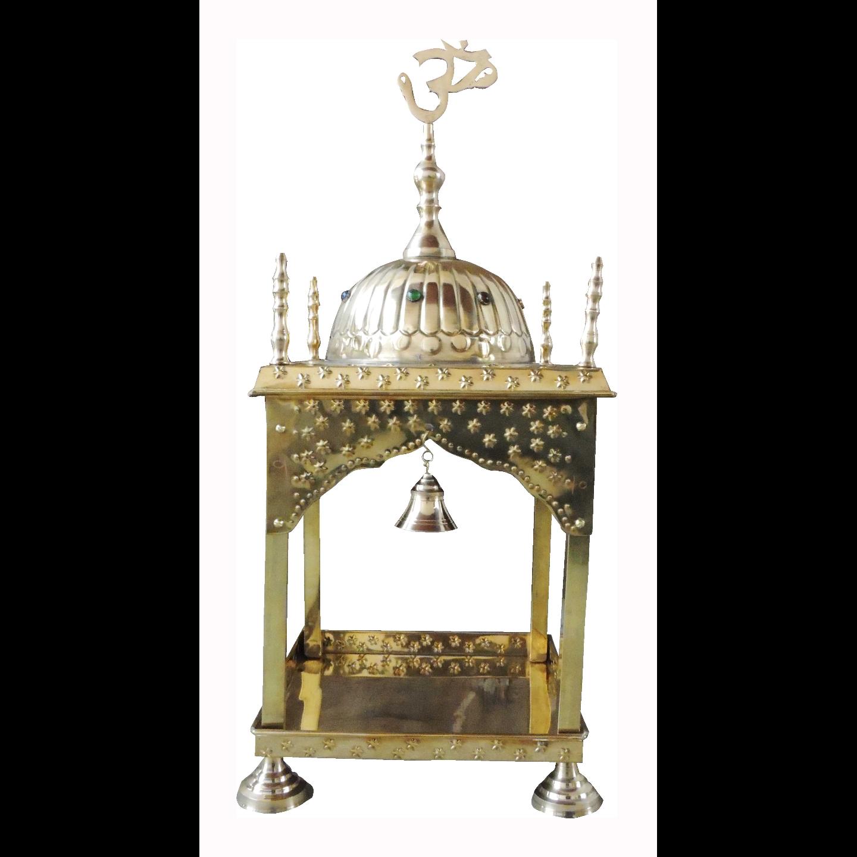 Brass Temple Mandir round Dom - 12x12x15 inch (F311 E)
