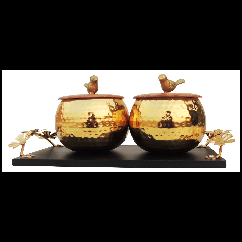 Iron Decorative Candy Box For Diwali Gift - 11.2 Inch (I135 B)