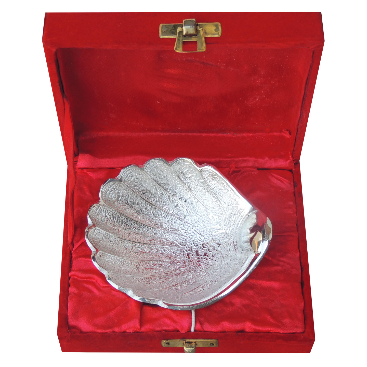 Brass Decorative Bowl With Silver Finish - 4 Inch B046