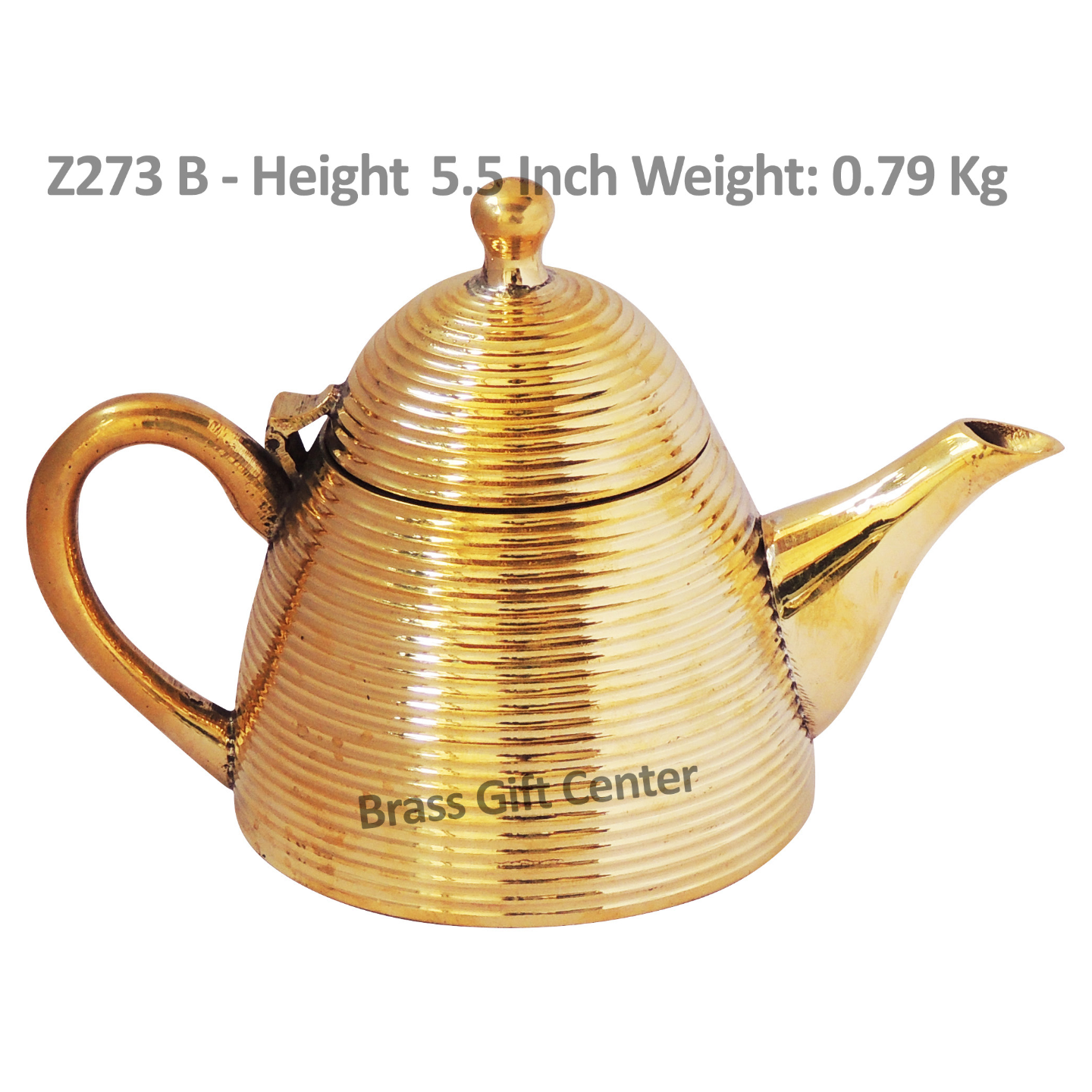 Brass Tea Pot Kettle 450 Ml -  8*4.5*5.5 Inch  (Z273 B)