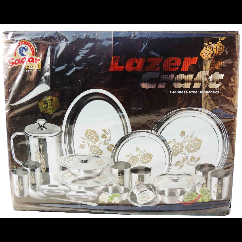 Dinner Set Lazer Craft 57 pcs S063 D
