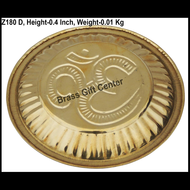 Brass Plate - 3.63.6 Inch  Z180 D
