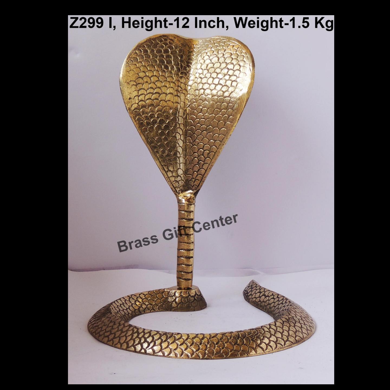 Brass Snake Saap For Shivling - 9.5*10.5*12 Inch  (Z299 I)