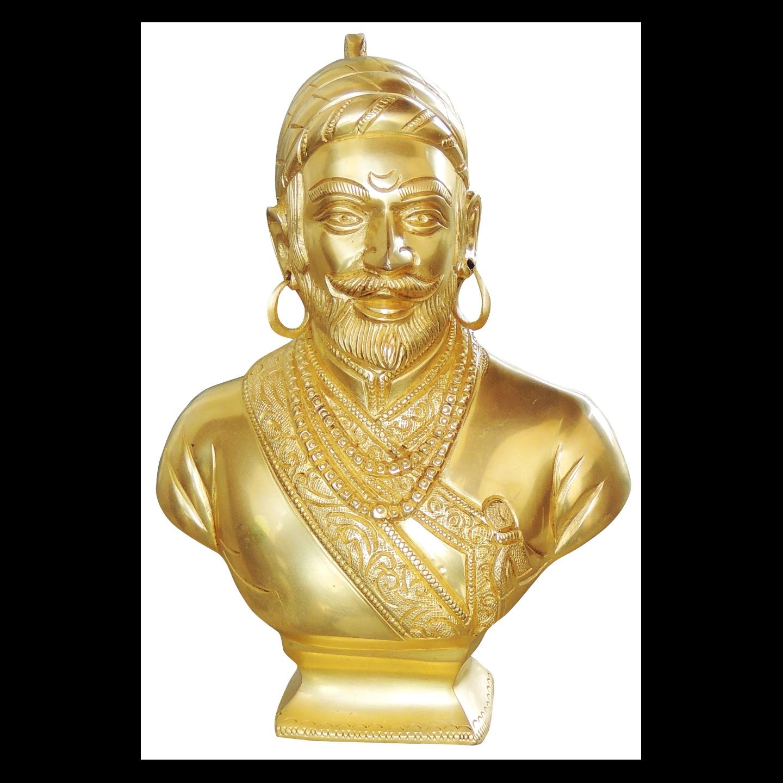 Brass Shivaji Maharaj Murti Statue idol- 6*2.5*9 inch  (BS1024 C)