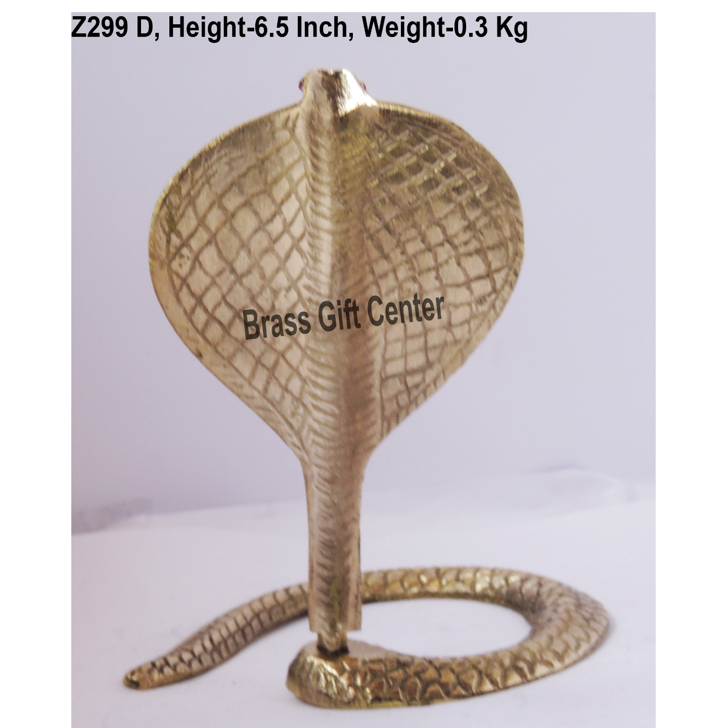 Brass Snake (Saap) For Shivling With Brass Finish, Height 6.5 Inch (Z299 D)