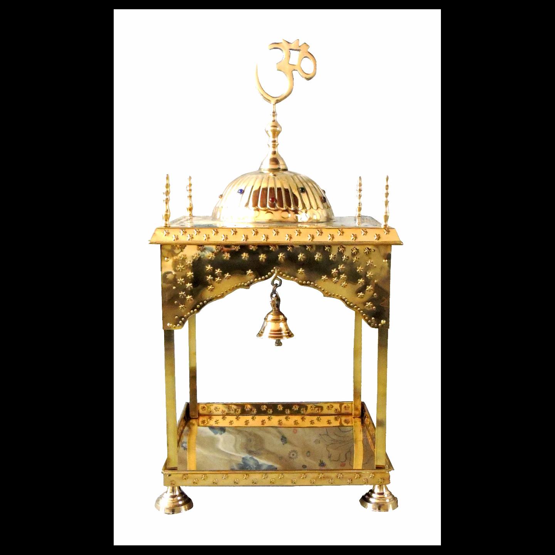 Brass Temple Mandir round Dom - 18x18x20.8 inch (F311 C)