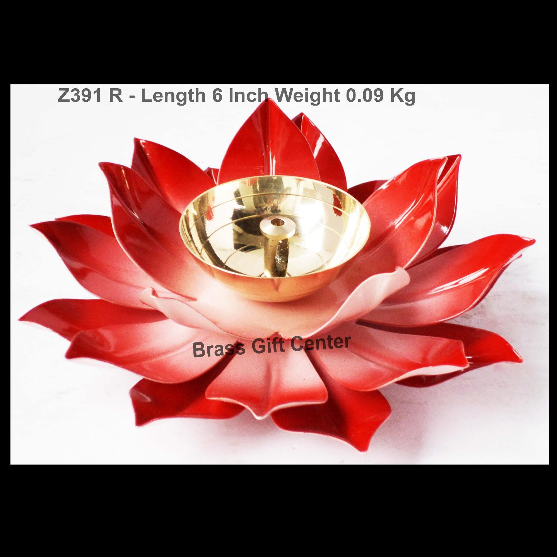 Brass And Iron Diya Deepak - 6 inch (Z391 R)