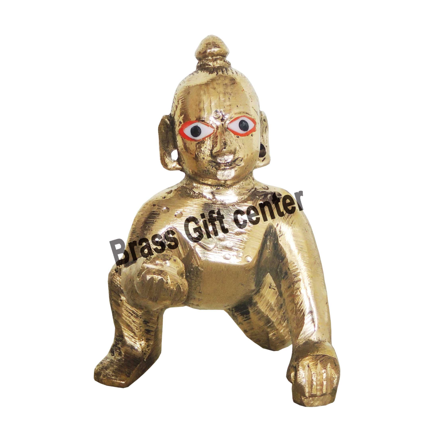 Brass Laddu Gopal 290 gm -  3.523 Inch  BS871 A