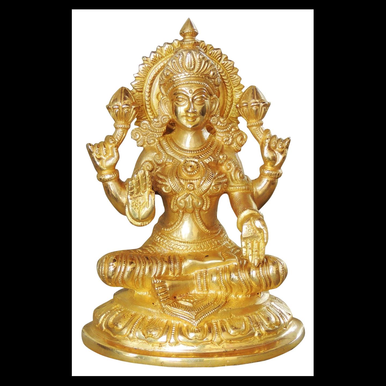 Brass Laxmiji Murti Statue idol- 5.5*4*7 inch  (BS1025 L)