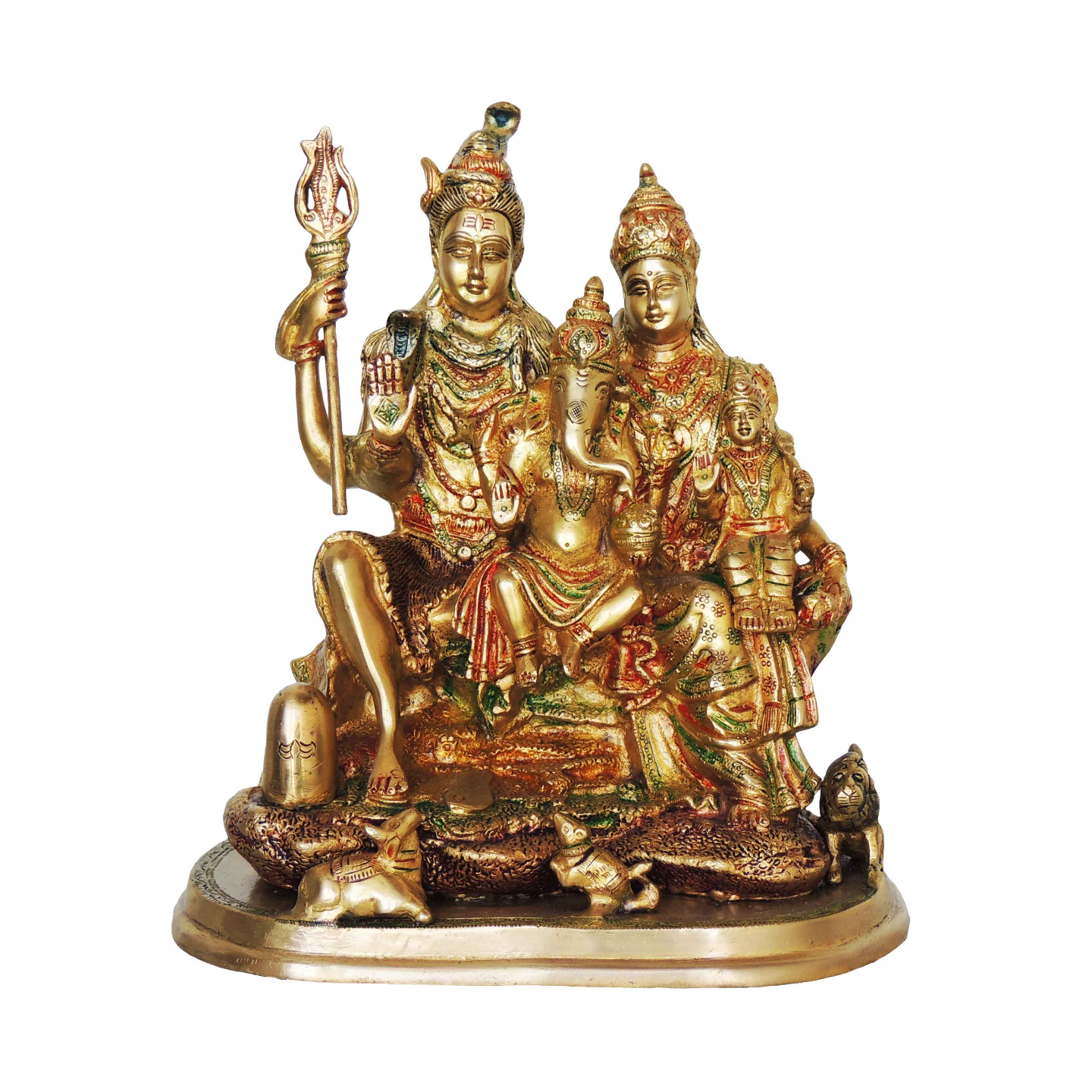 Brass Showpiece Shiv Parivar - 13 Inch (BS419)