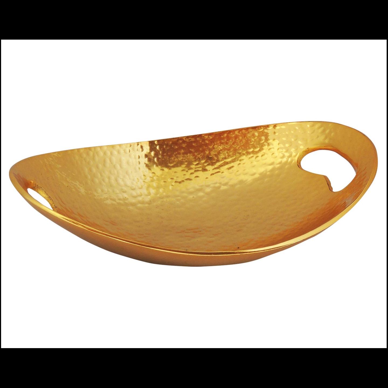 Aluminium Serving Tray Platter Gold Finish - 11*8*2.5 Inch  (A3164/11)