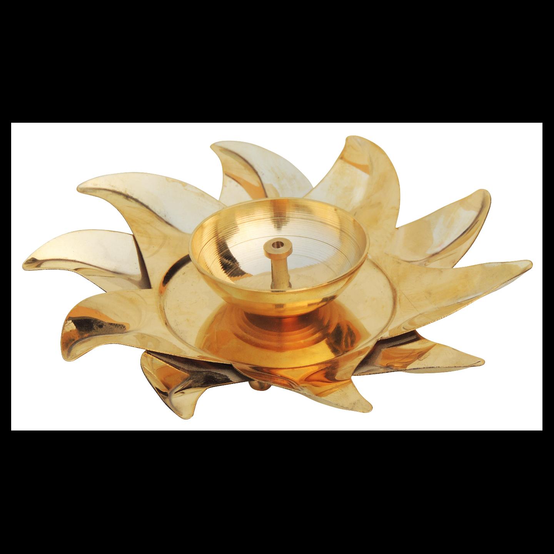 Brass Surya Deepak - 7 Inch, No. 3 (Z490 C)
